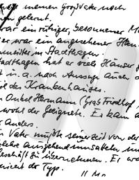 Notiz von Friedrich Marwell zur Rechnung des Großvaters