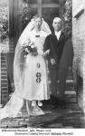 Hochzeitsfoto Wilhelm und Wilhelmine Marwell