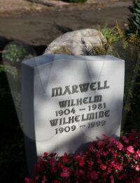 Grabstein Wilhelm Marwell u. Wilhelmine, geb. Meyer