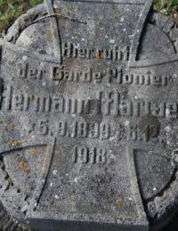 Grabstein Hermann Marwell, 1899-1918